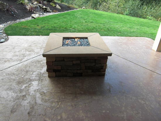 Stamped Concrete Chimney : Curb accents concrete image gallery